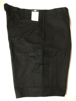 Dickies Men's Cargo Size 46 Black Side Zip-up Pockets Carg