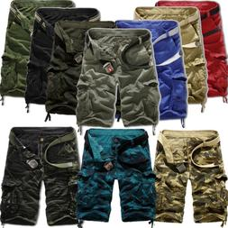 Mens Combat Cargo Shorts Tactical Military Army Half Pants C