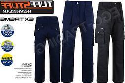 Mens Combat Cargo Work Trouser. Heavy Duty Work Wear By TUFF