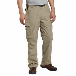 BC Clothing Mens Convertible  Cargo Hiking Pants Zippered  P