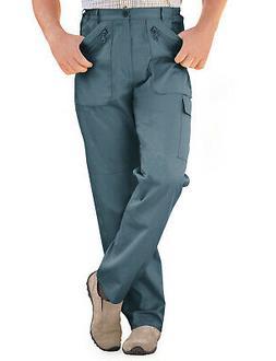 Mens Elasticated Trouser Multi Pocket Cargo Combat Work Pant