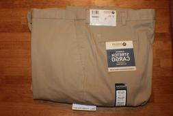 Haggar Mens Flat Front Stretch Classic Cargo Pants NWT SZ: 4