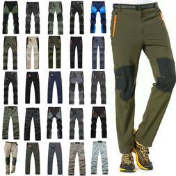 Men Quick Dry Hiking Pants Tactical Cargo Outdoor Camping Cl