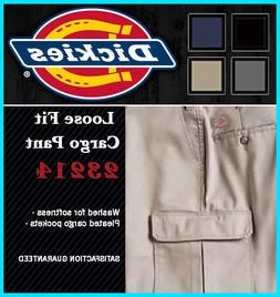 DICKIES Mens Loose Fit Cargo Pants, 23214 Washed Carpenter W