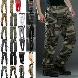 Mens Military Army Camouflage Cargo Pants Tactical Combat Ca