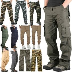 Mens Military Army Combat Trousers Bottoms Casual Camo Cargo