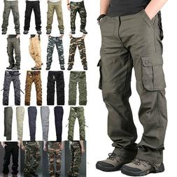 Mens Military Army Combat Tactical Work Pants Cargo Casual C