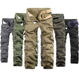 Mens Military Army Tactical Trousers Cargo Pants Combat Camo