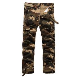 Mens Multi Pockets Camouflage Military <font><b>Pants</b></f