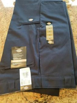 Dickies Mens Navy Blue Loose Fit Straight Leg Cargo Pants 36