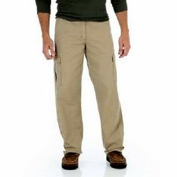Mens Wrangler Originals Cargo Pants Relaxed Fit Khaki 32 34