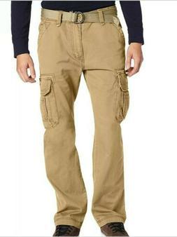 Unionbay Mens Pants Beige Size 38x30 Tried & True Cargo Belt