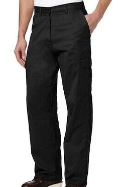 Dickies Mens Pants Black Size 42X30 Loose Fit Cargo Work Str