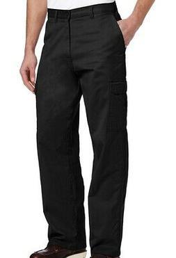 Dickies Mens Pants Black Size 44x32 Loose-Fit Straight-Leg C