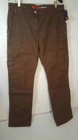 Mens DICKIES Regular Flex Fit Brown Cargo Utility Pants NWT