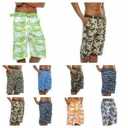 mens Cargo shorts camo cargo  short pants 100% Cotton 20 col
