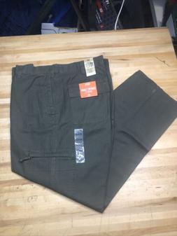 Dockers Mens Size 34x30 Olive Camo Color Classic Fit Comfort