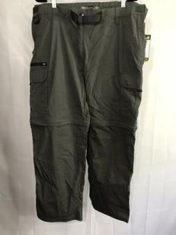 BC Clothing Mens Size XXL 2X Gray Convertible Stretch Cargo