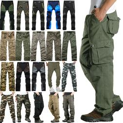 Mens Tactical Army Combat Military Cargo Work Multi Pocket C