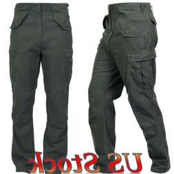 Mens Tactical Combat Trousers Work Cargo Pocket Outdoor Army