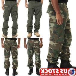 Mens Tactical Waterproof Cargo Pants Carpenter Combat Hiking