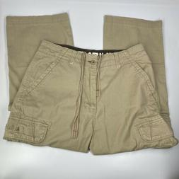 Men's Union Bay Beige Khaki Cargo Pants Pockets Hemmed Bot