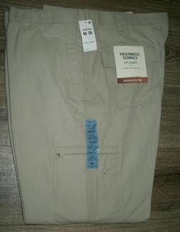 Dockers Mens W44 L40 Beige Comfort Cargo Pants Classic Fit C