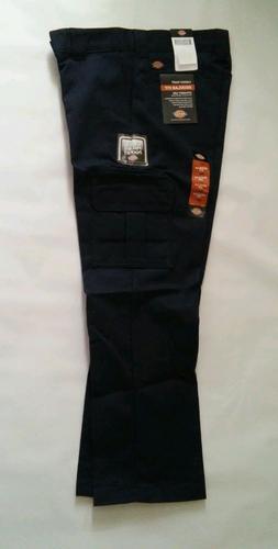DICKIES Mens WP595 Regular Fit Straight Leg Cargo Pants DARK