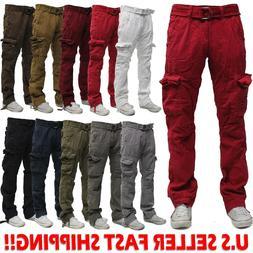 Military Men's Cotton Cargo Pants Combat Camouflage Solid Ar