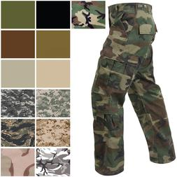 Military Paratrooper Fatigues Cargo Camo Pants 8 Pocket Wash