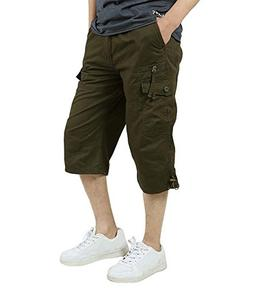 FASKUNOIE Military Shorts for Men Big and Tall Cotton Army C
