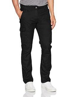LEE Men's Modern Series Slim Cargo Pant, Black, 40W x 32L