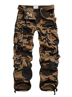 AKARMY Must Way Men's Cotton Casual Military Army Cargo Camo