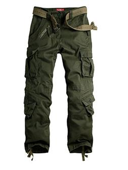 Must Way Men's Cotton Casual Military Army Cargo Camo Combat