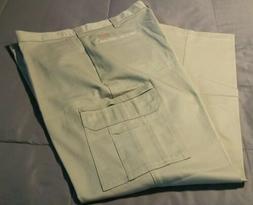NEW Dickies 100% Cotton Cargo Work Pants 40 × 34 Khaki Tan