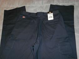 NEW DICKIES 34 x 34 CARGO pants navy blue 100% COTTON men's