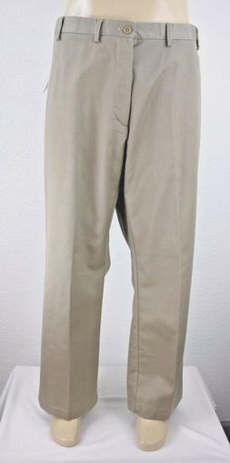 NEW IZOD American Chino Wrinkle Free Men's Flat Front Classi