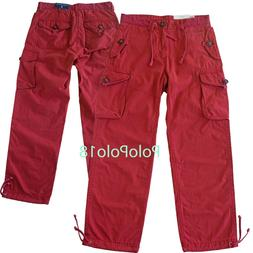 New Polo Ralph Lauren Ankle Tie Cargo Pants