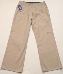 NEW Cherokee Beige Modern Classic Scrub Cargo Pants, Size La