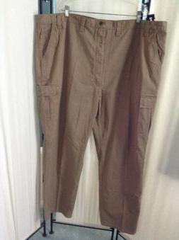 NEW Wrangler BIG MAN Tech Pocket Cargo Pants Khaki Relaxed F