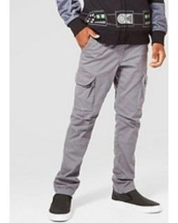 NEW Boys' Slim Fit Stretch Cargo Pants - Cat & Jack Gray 18H