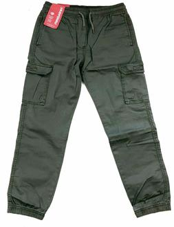 New Unionbay Boys Youth Jogger Cargo Pull-On Pants Small 7/8