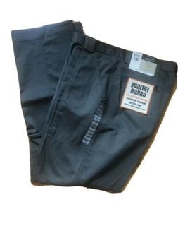New Haggar Fatigue Cargo 38W 34L Relaxed Fit Flat Front Oliv