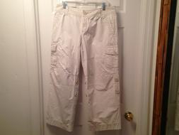 NEW ANN TAYLOR LOFT Ivory Casual Dress Women's Capri Pants S