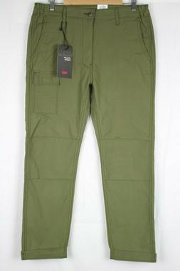New Levi's Premium Men's Reflective Cargo Utility Pants Gree