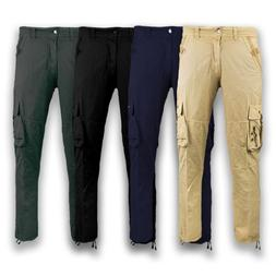 NEW Men Cargo Pants Side Zippers Pockets MultiPocket Pants J