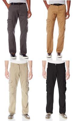 New Wrangler Men's Relaxed Fit Straight Leg Cargo Pants 100%