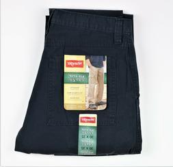 New Wrangler Men's Rip-Stop Cargo Pants Navy Color 100% Cott