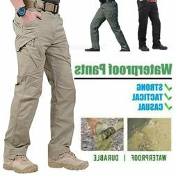 New Men Tactical Waterproof Work Cargo Long Pants with Pocke