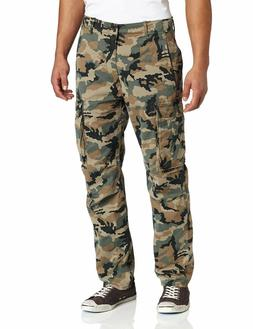 NEW MENS LEVIS RELAXED FIT ACE CARGO PANTS GREEN CAMOUFLAGE